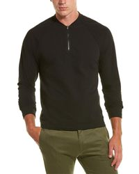 James Perse Half-zip Baseball Pullover - Multicolour
