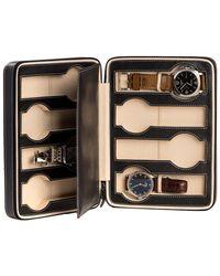 Bey-berk - Black Leather 8-watch Travel Case - Lyst