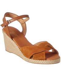 Andre Assous Ellie Suede Wedge Sandal - Brown