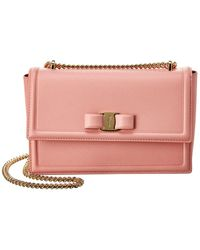 Ferragamo Medium Ginny Leather Shoulder Bag - Multicolor