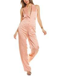 Off-White c/o Virgil Abloh Off-white? Plunging V-neck Jumpsuit - Pink