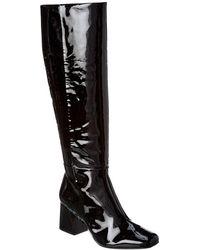 Schutz Beliana Patent Long Boot - Black
