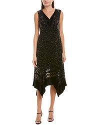 Nanette Lepore Silk-blend A-line Dress - Black