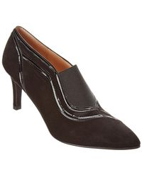 French Sole - Rum Suede Bootie - Lyst
