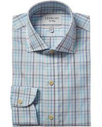 Ledbury The Pelton Slim Fit Dress Shirt - Blue