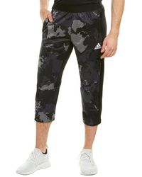 adidas Continent Camo City Cropped Pant - Grey