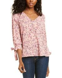 Cece By Cynthia Steffe 3/4-sleeve Botanic Charm Blouse - Pink
