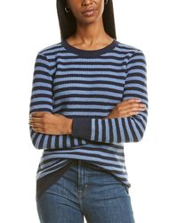 Sail To Sable Striped Jumper - Blue