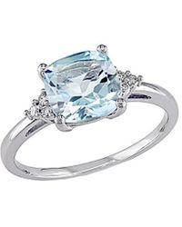 Rina Limor - 10k 2.56 Ct. Tw. Diamond & Sky Blue Topaz Ring - Lyst