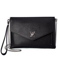 Louis Vuitton Black Calfskin My Lockme Pochette