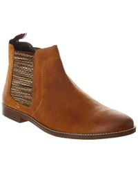 Ben Sherman Gabe Leather Chelsea Boot - Brown