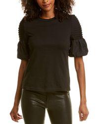 Gracia Puff Sleeve Top - Black