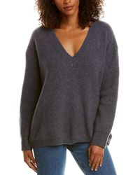 James Perse Oversized Cashmere & Silk-blend Sweater - Gray