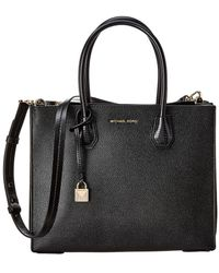 MICHAEL Michael Kors - Mercer Large Accordion Convertible Leather Tote - Lyst
