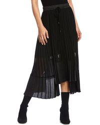 Bailey 44 Roxy Asymmetric Pleated Skirt - Black
