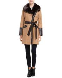 Via Spiga Kate Middleton Camel Wool-blend Coat - Natural