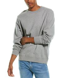 Ovadia Dune Distressed Crewneck Sweatshirt - Grey