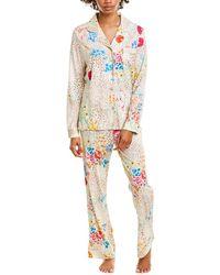 Johnny Was 2pc Wildflower Pajama Pant Set - White