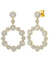Diana M. Jewels . Fine Jewellery 14k 2.07 Ct. Tw. Diamond Drop Earrings - Metallic