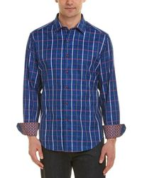 Robert Graham Ocean Breeze Classic Fit Woven Shirt - Blue