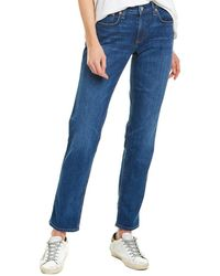Rag & Bone Dre Low Rise Slim Boyfriend - Blue
