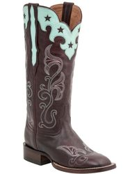 Lucchese - Scallop Top Star Leather Western Boot - Lyst