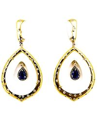 Arthur Marder Fine Jewelry - Silver 3.90 Ct. Tw. Diamond & Sapphire Earrings - Lyst