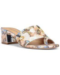 Donald J Pliner Melros Leather Sandals - Metallic