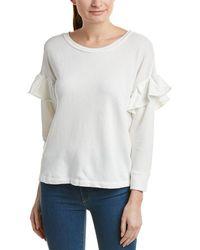 Current/Elliott The Ruffle Sweatshirt - White