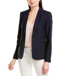 Elie Tahari Wool-blend Jacket - Blue