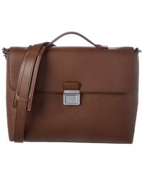 MICHAEL Michael Kors Bryant Large Leather Briefcase - Brown