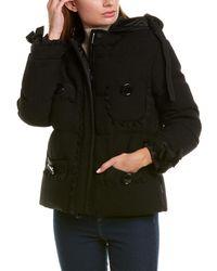 Moncler Wool-blend Colin Down Coat - Black