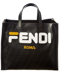 070a5d3a3652 Fendi - Runway Collection Large Leather & Canvas Shopper Tote - Lyst