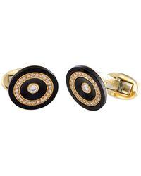 Piaget 18k 0.60 Ct. Tw. Diamond & Onyx Cufflinks - Multicolor