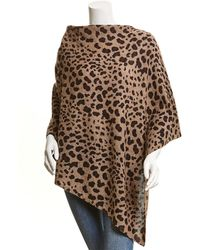Forte Leopard Poncho - Brown