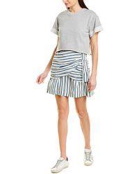 10 Crosby Derek Lam Striped Mini Dress With Sweater - White