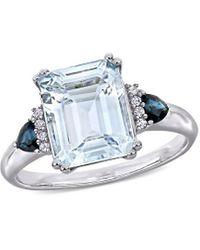 Rina Limor Silver 3.34 Ct. Tw. Diamond & Gemstone Ring - Metallic