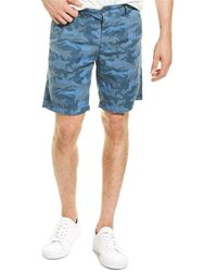 AG Jeans Wanderer Linen-blend Short - Blue