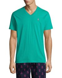 Psycho Bunny Bunny Pima V-neck T-shirt - Green