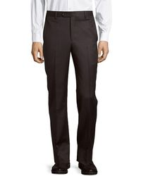 Saks Fifth Avenue Micronosphere Wool Trouser - Gray