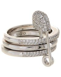 Apm Monaco Silver Ring - Metallic