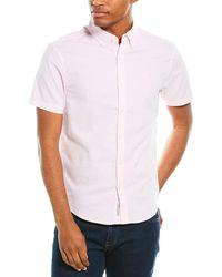 Original Penguin Washed Linen Shirt - Pink