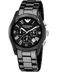 Emporio Armani Men's Ceramic Watch - Metallic