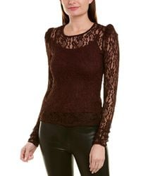 Bailey 44 Lace Blouse - Red