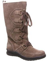 BEARPAW Justice Genuine Sheepskin & Wool Blend Lined Boot - Brown