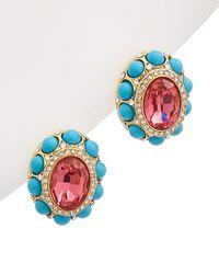 Kenneth Jay Lane 22k Gold Electroplated Earrings - Multicolour