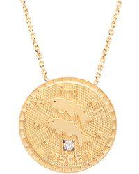Gabi Rielle 22k Over Silver Pisces Cz Necklace - Metallic
