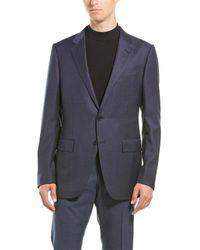 Ermenegildo Zegna 2pc Wool Suit With Flat Pant - Blue