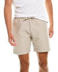 Onia Pull-on Seersucker Short - Brown