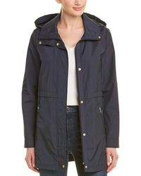 Cole Haan Packable Rain Jacket - Blue